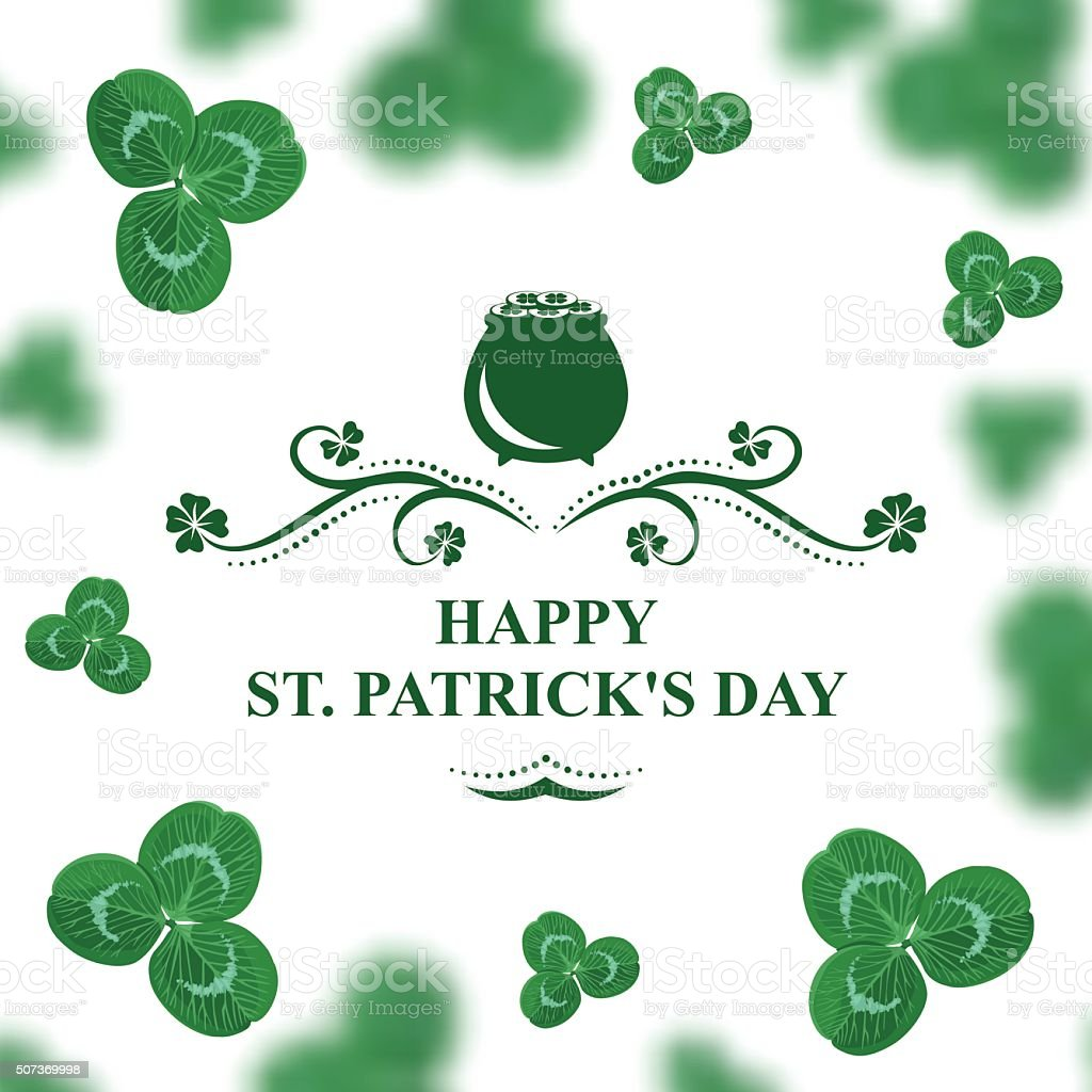 Happy St. Patrick's day vector art illustration