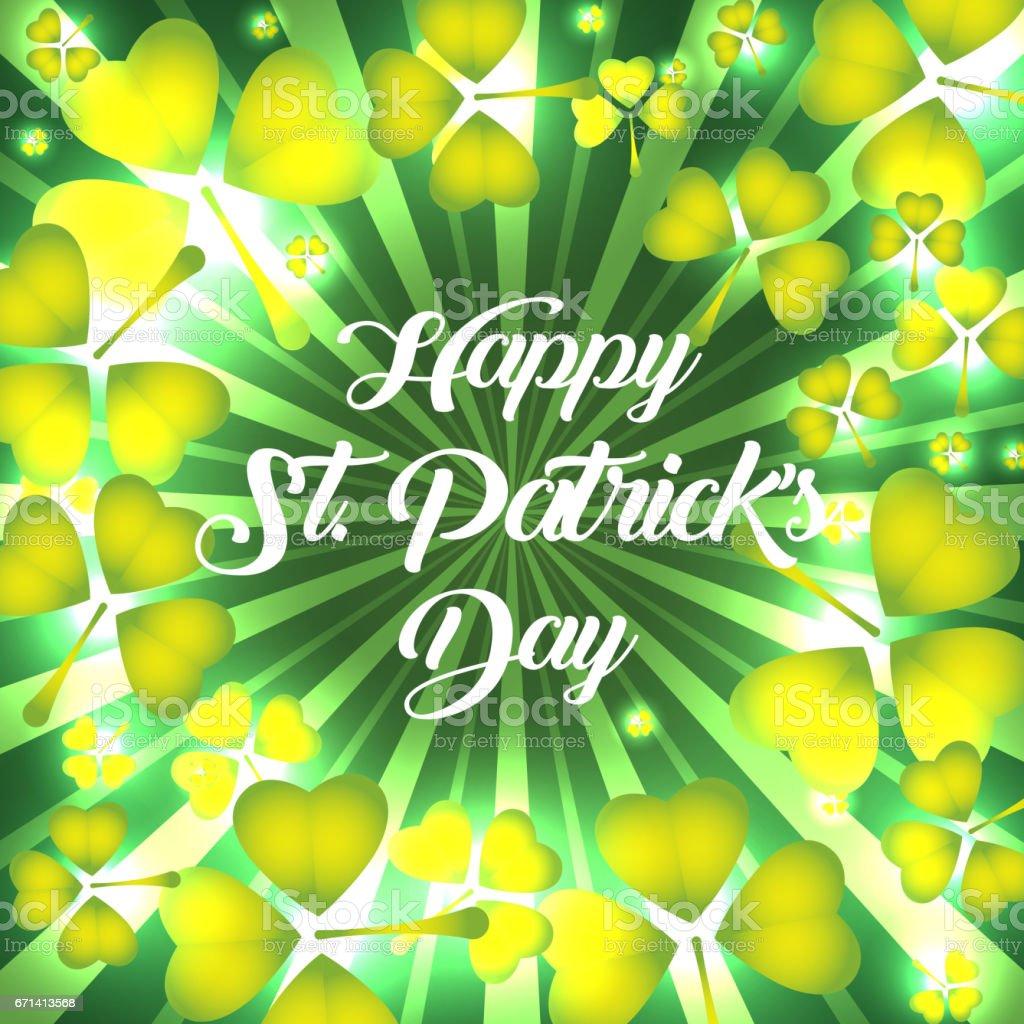 Happy St. Patricks Day vector art illustration