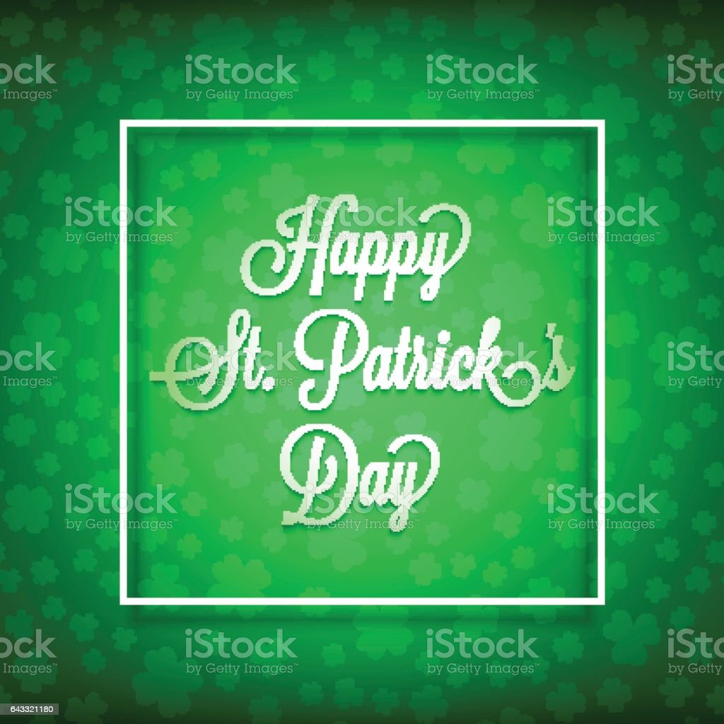 happy st patrick's day2-01 vector art illustration