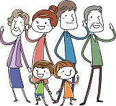 Happy stylish family. Vector illustration
