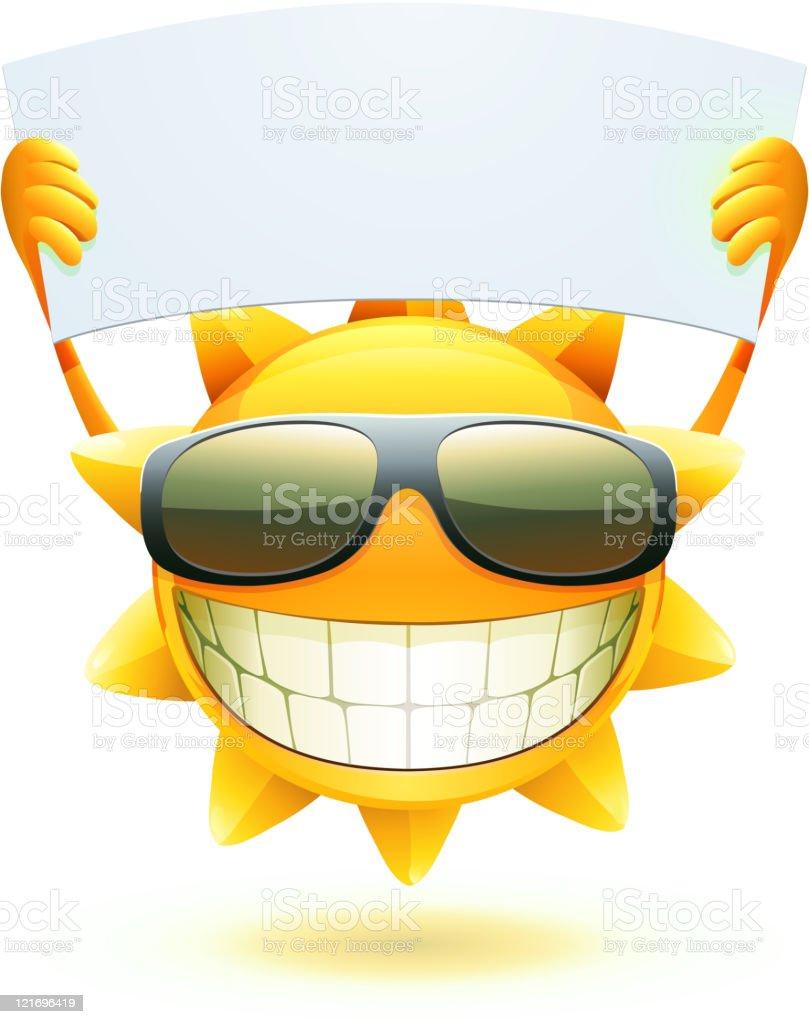 happy summer sun royalty-free stock vector art