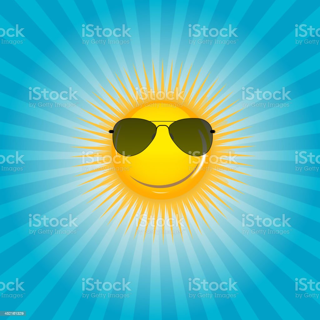 Happy Sun background vector illustration royalty-free stock vector art