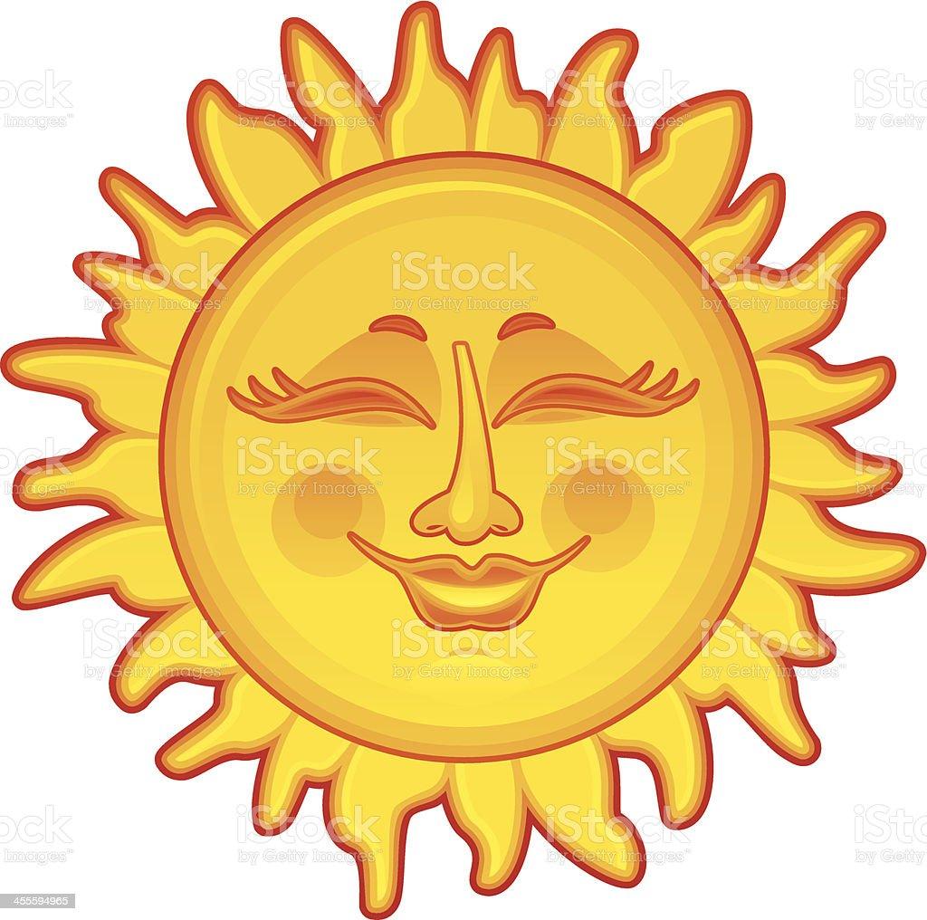 Happy Sun royalty-free stock vector art