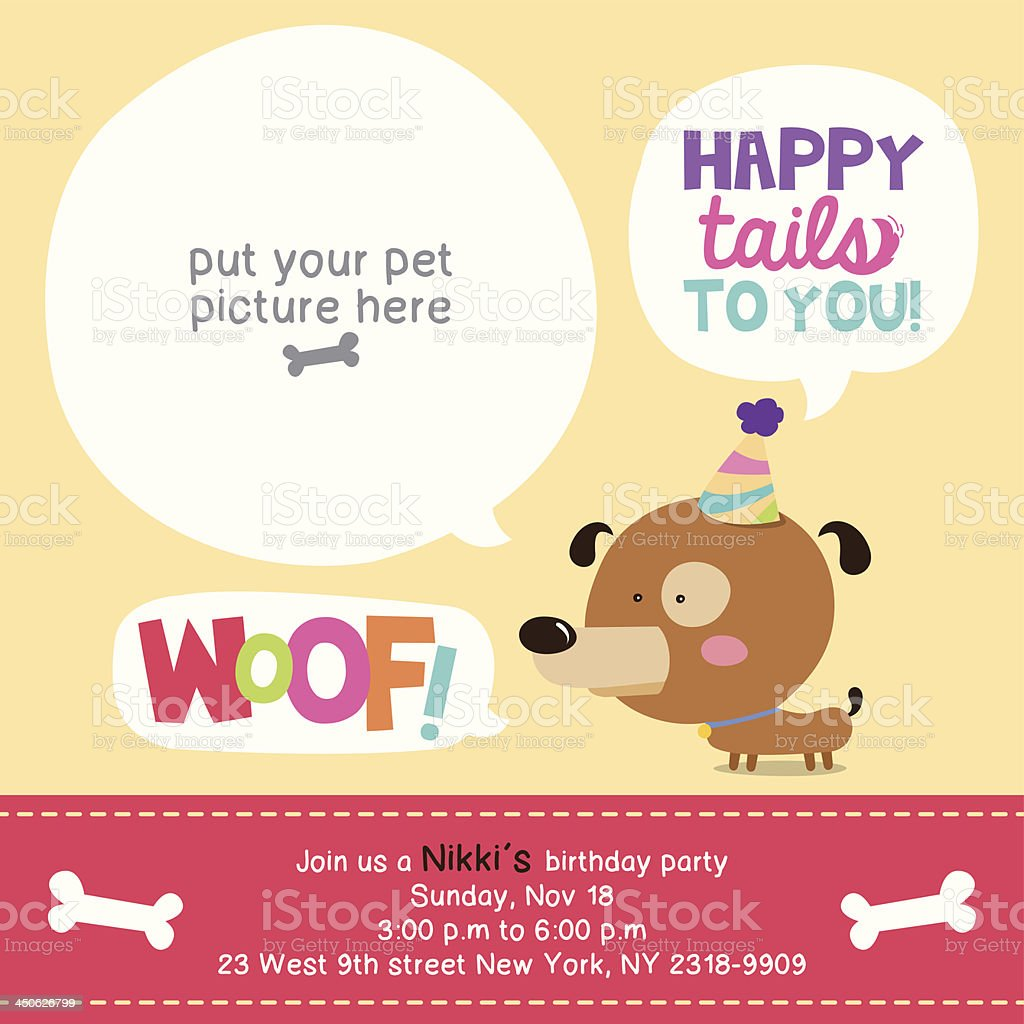 Happy Tails To You vector art illustration