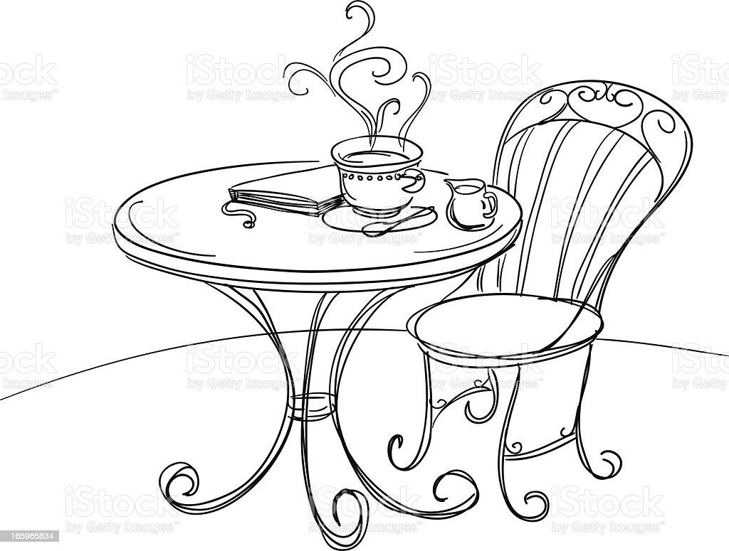Happy tea time illustration royalty-free stock vector art