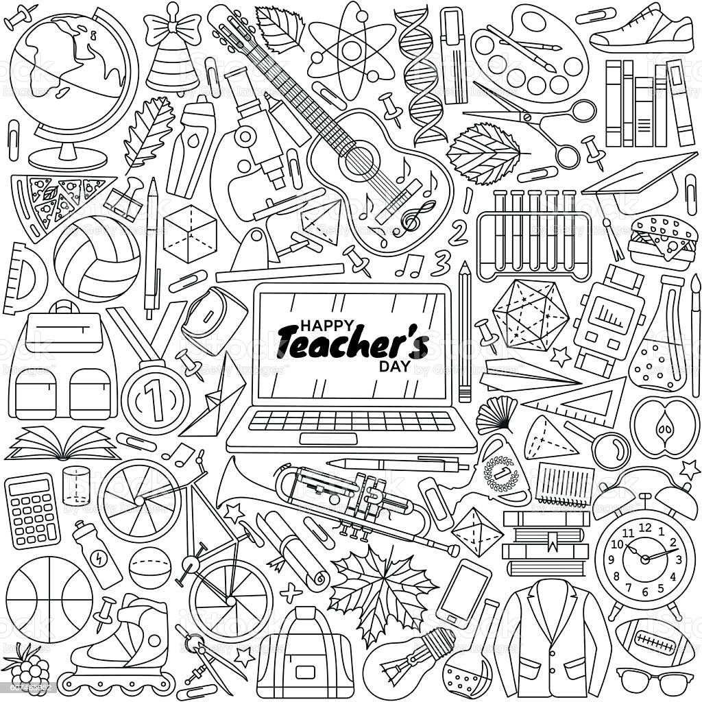 Happy Teachers Day background vector art illustration