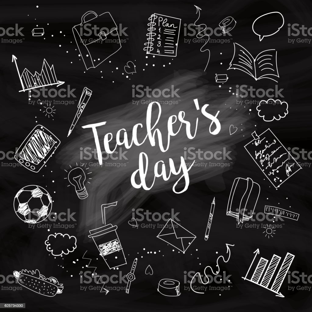 Happy Teacher's day vector art illustration