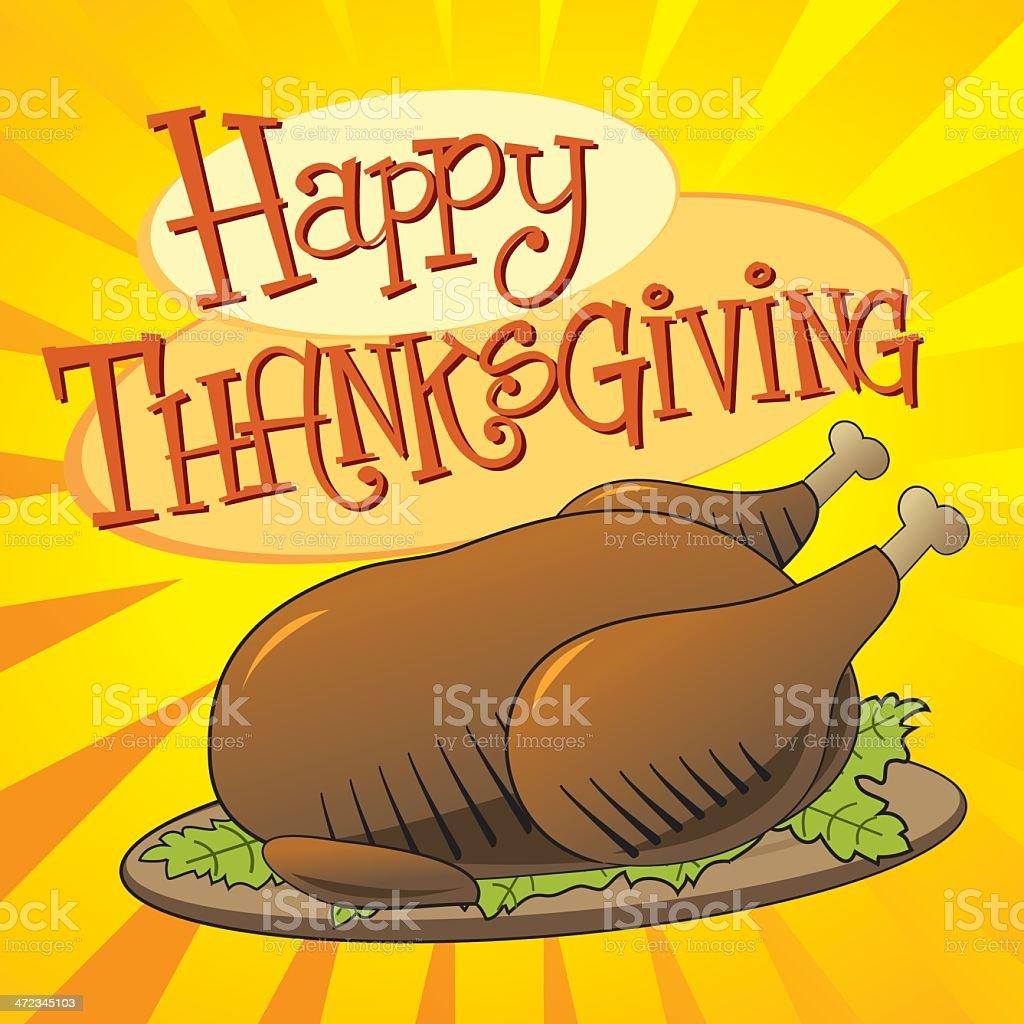 Happy Thankgsgiving vector art illustration