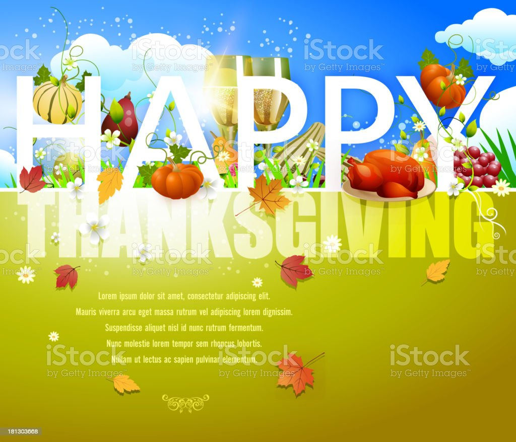 Happy Thanksgiving Background vector art illustration
