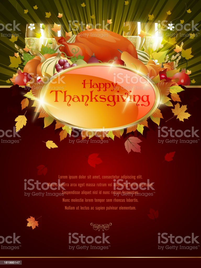 Happy Thanksgiving Background royalty-free stock vector art