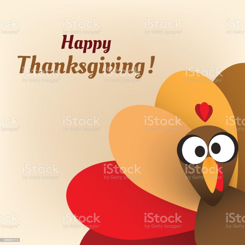 Happy Thanksgiving Card Design Template vector art illustration