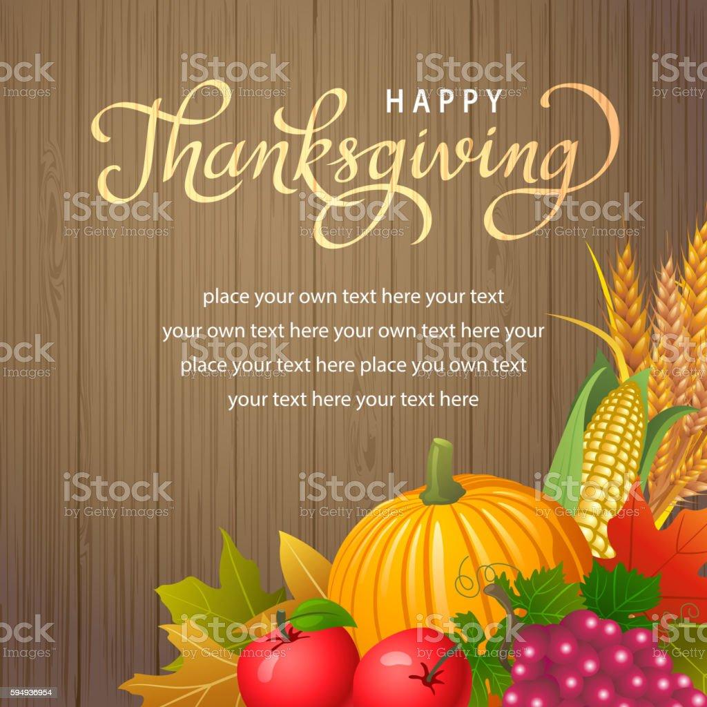Happy Thanksgiving Celebration vector art illustration