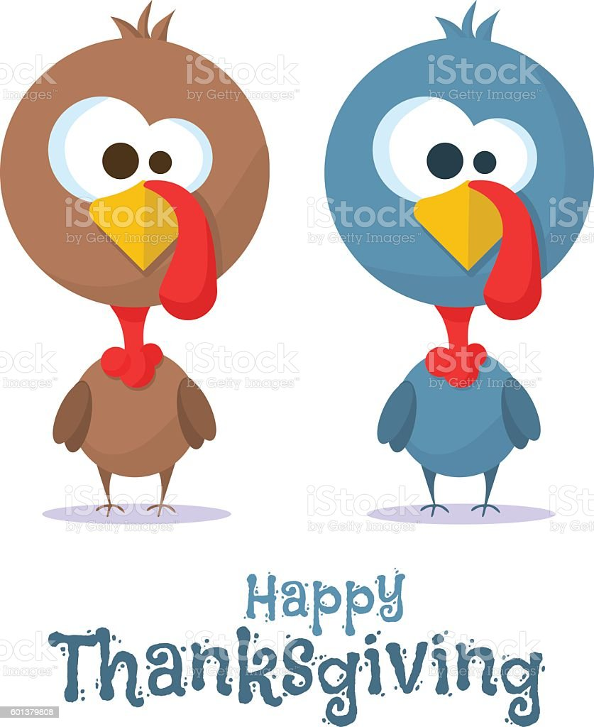 Happy Thanksgiving celebration. Vector vector art illustration
