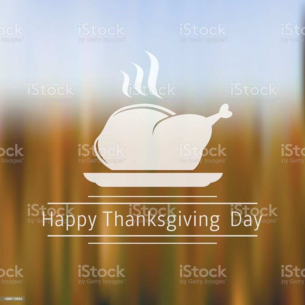 Happy Thanksgiving Day blurred background vector art illustration