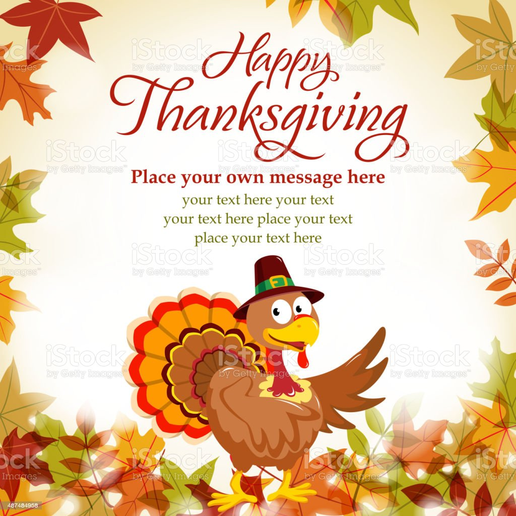 Happy thanksgiving day vector art illustration