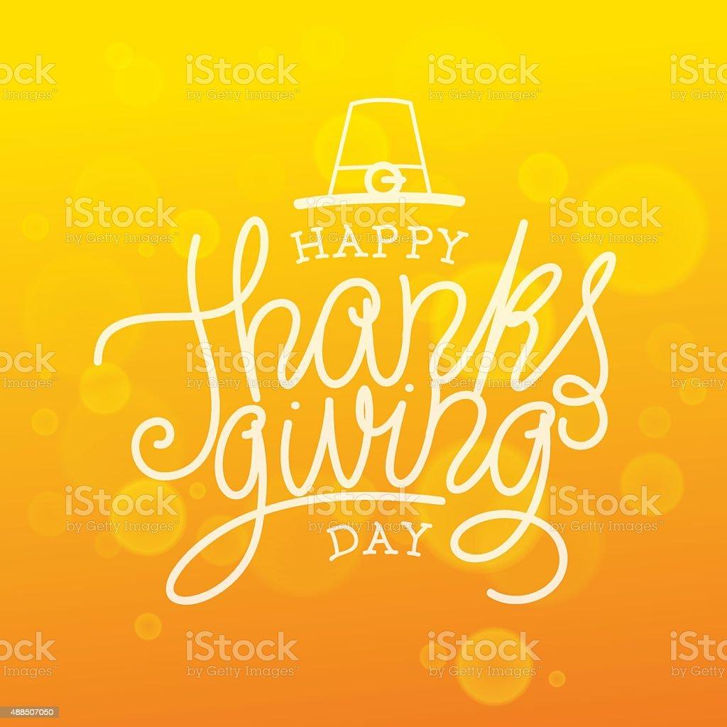 Happy Thanksgiving Day vector art illustration
