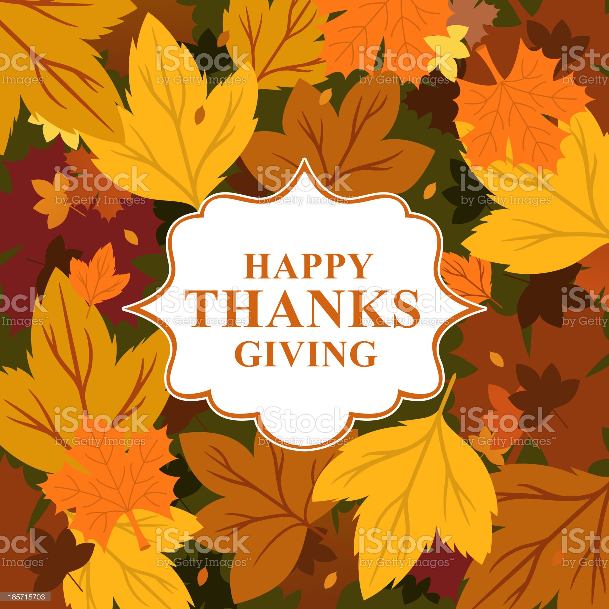 Happy Thanksgiving Giving Sign Design Card Label royalty-free stock vector art
