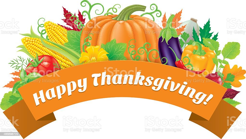 Happy Thanksgiving greetings vector art illustration