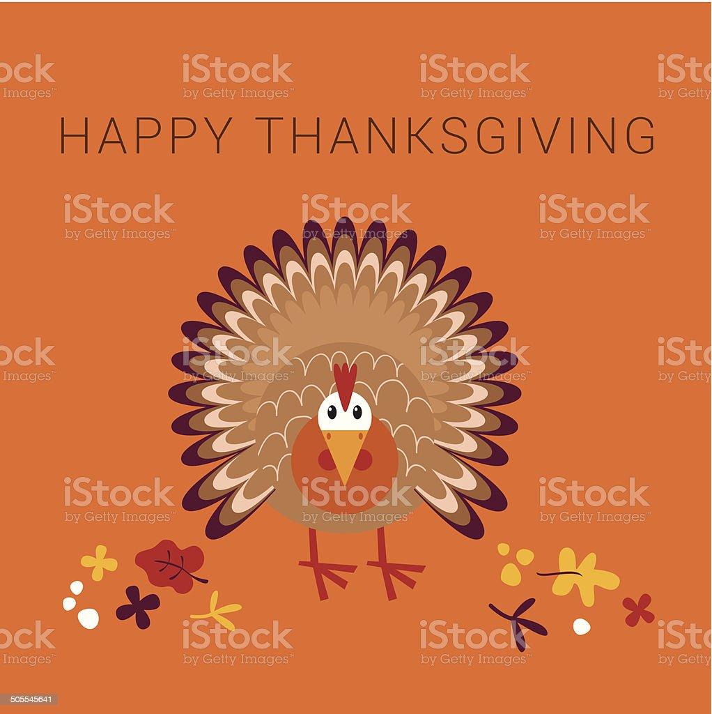 Happy Thanksgiving turkey card royalty-free stock vector art