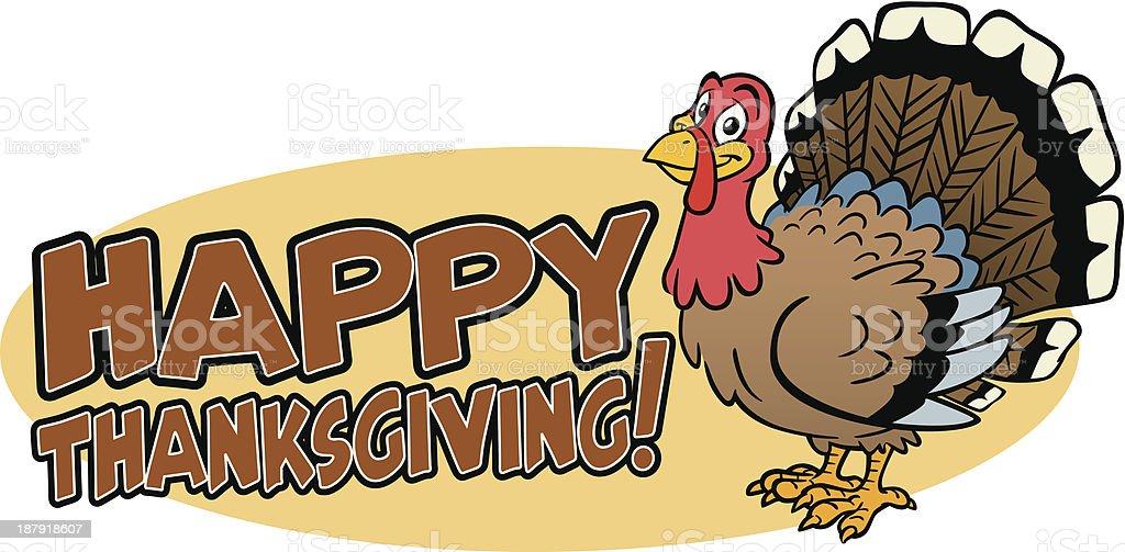 Happy Thanksgiving Turkey royalty-free stock vector art