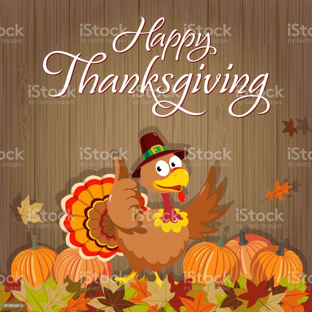 Happy Thanksgiving Turkey vector art illustration