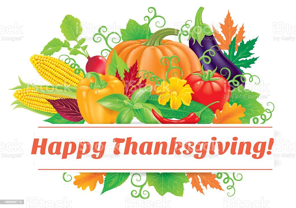 Happy Thanksgiving vector art illustration