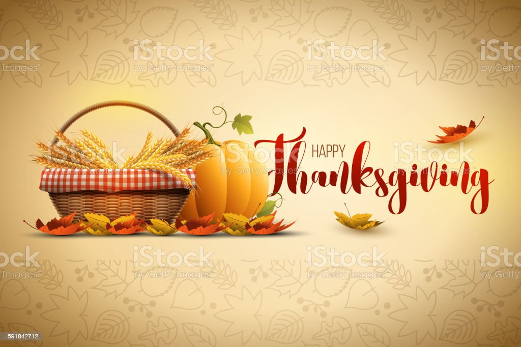 Happy Thanksgiving vector art illustration