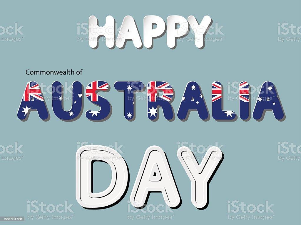 happy the Commonwealth of Australia day vector art illustration