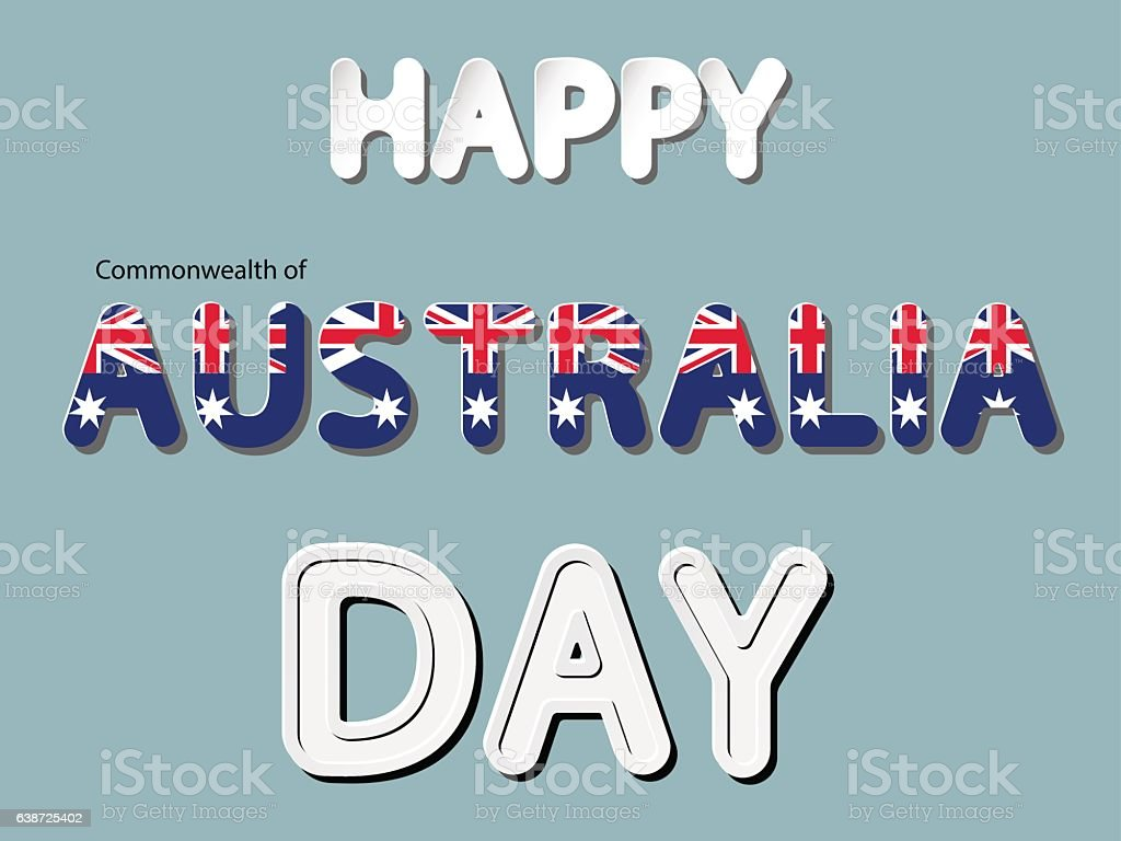 happy the Commonwealth of Australia day vector art illustration