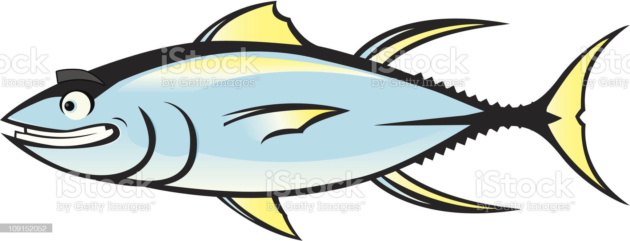 happy tuna royalty-free stock vector art