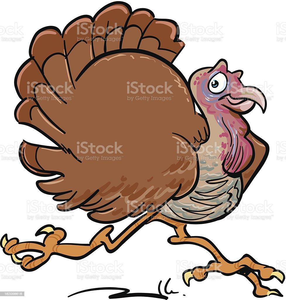Happy turkey running royalty-free stock vector art