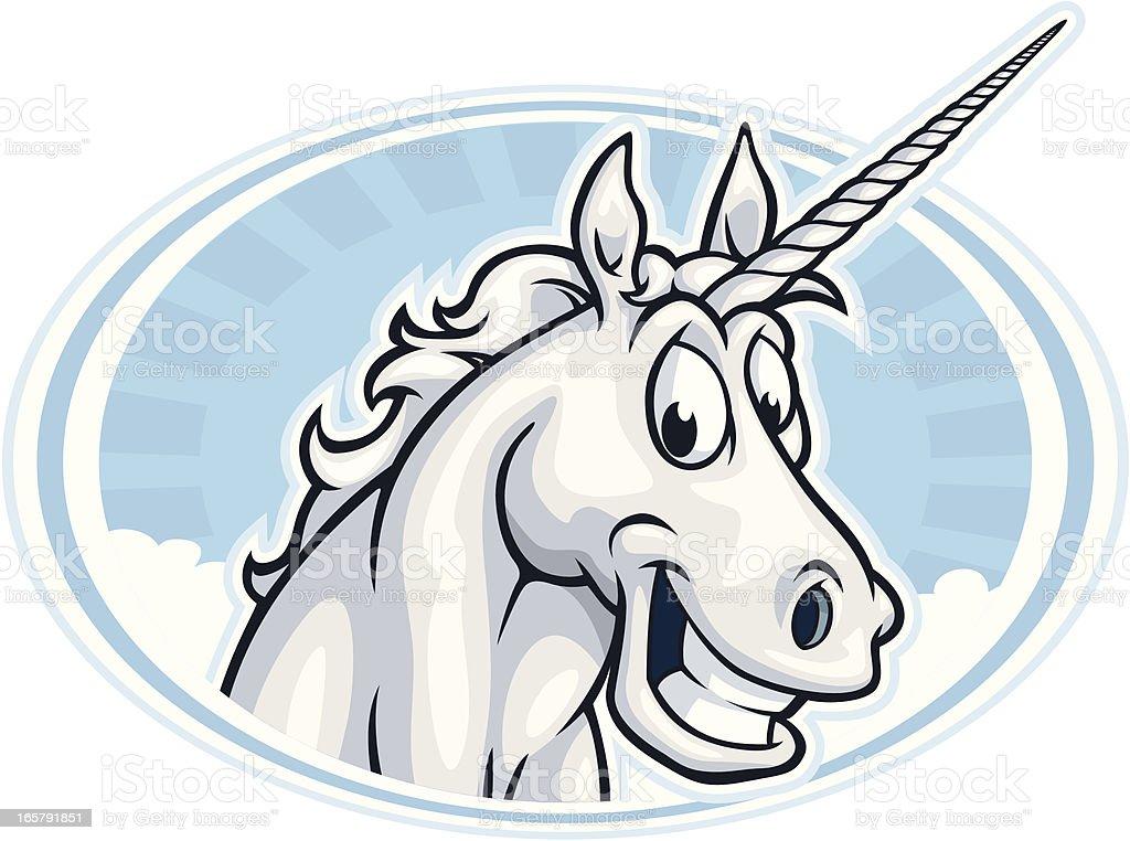 Happy Unicorn Mascot royalty-free stock vector art