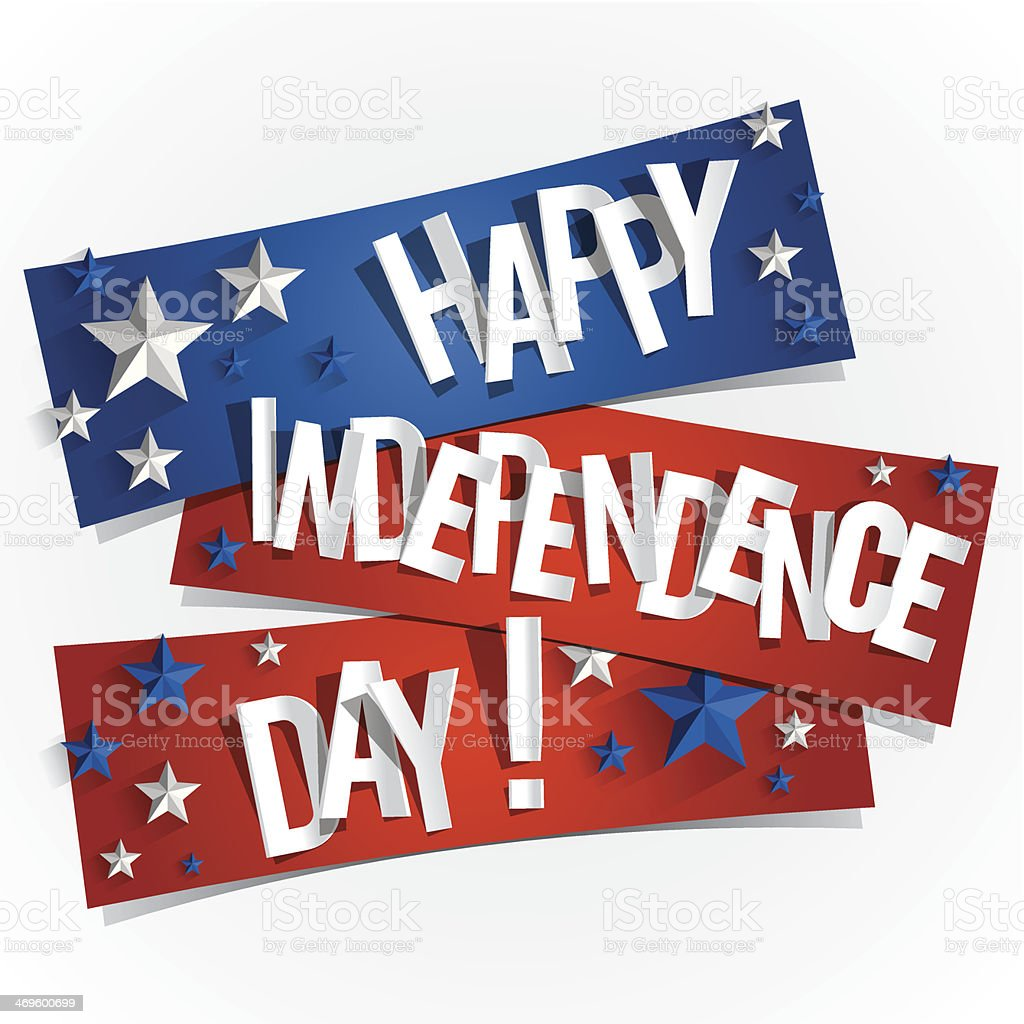 Happy USA Independence Day Card vector art illustration