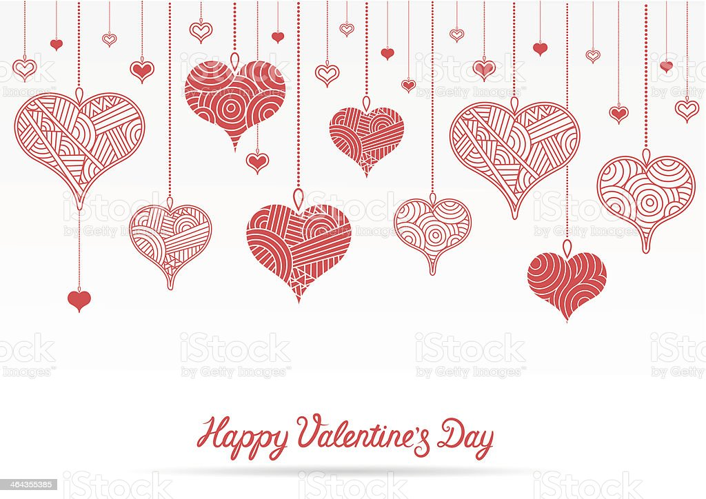 Happy Valentine's Day card vector art illustration