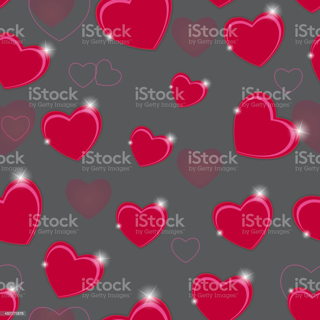Happy Valentines Day card with heart. Vector illustration royalty-free stock vector art