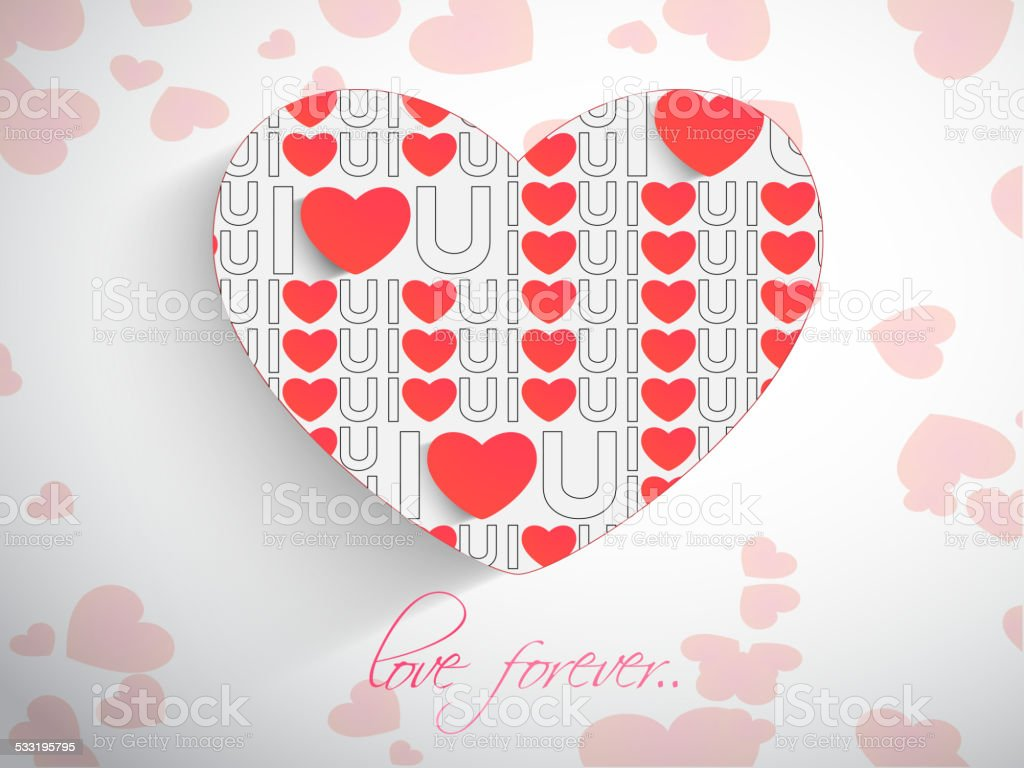 Happy Valentines Day Celebration With Red Hearts Stock Vector Art