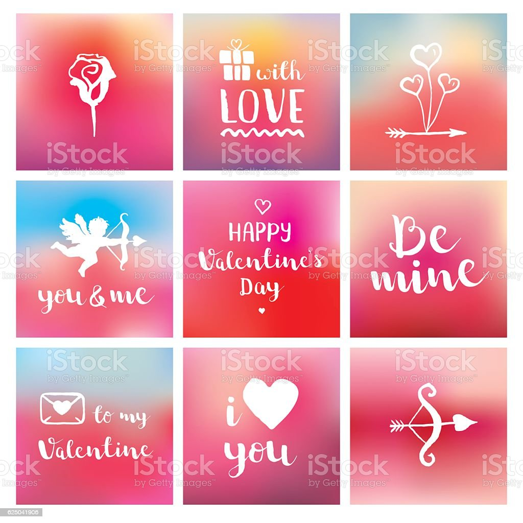 Happy Valentines Day Collection vector art illustration