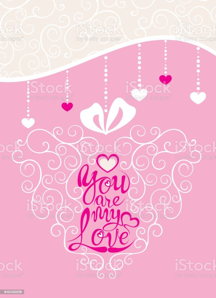 Happy Valentines Day Greeting Card vector art illustration