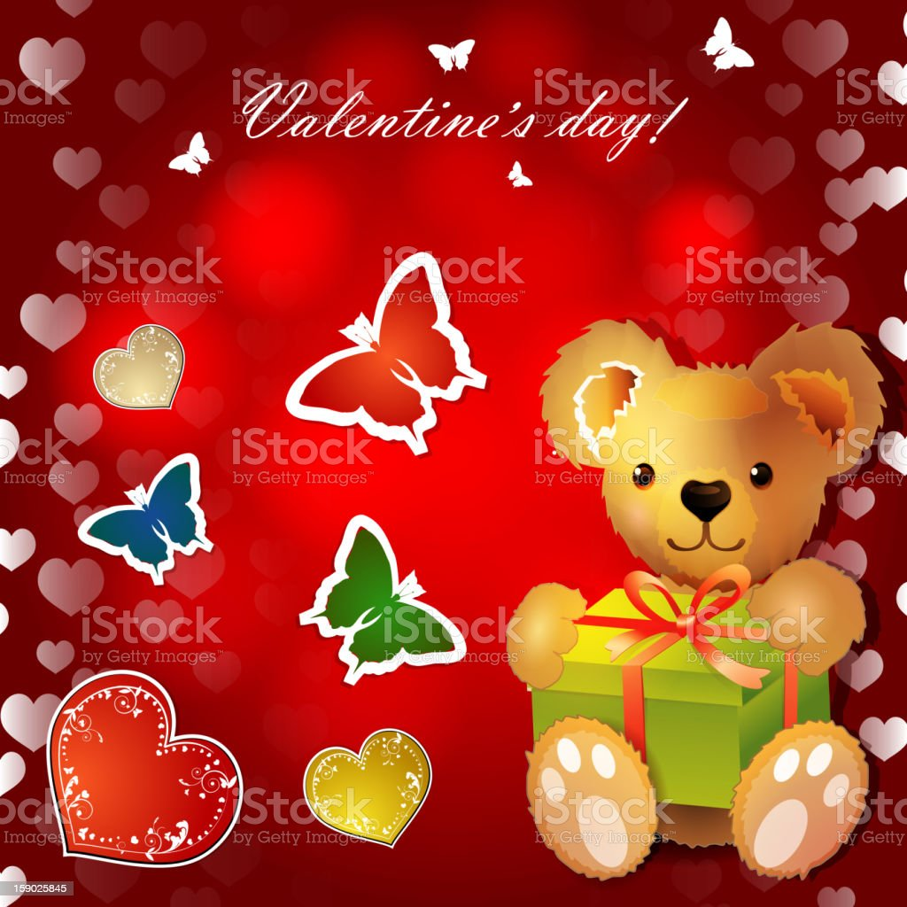 Happy Valentines day royalty-free stock vector art