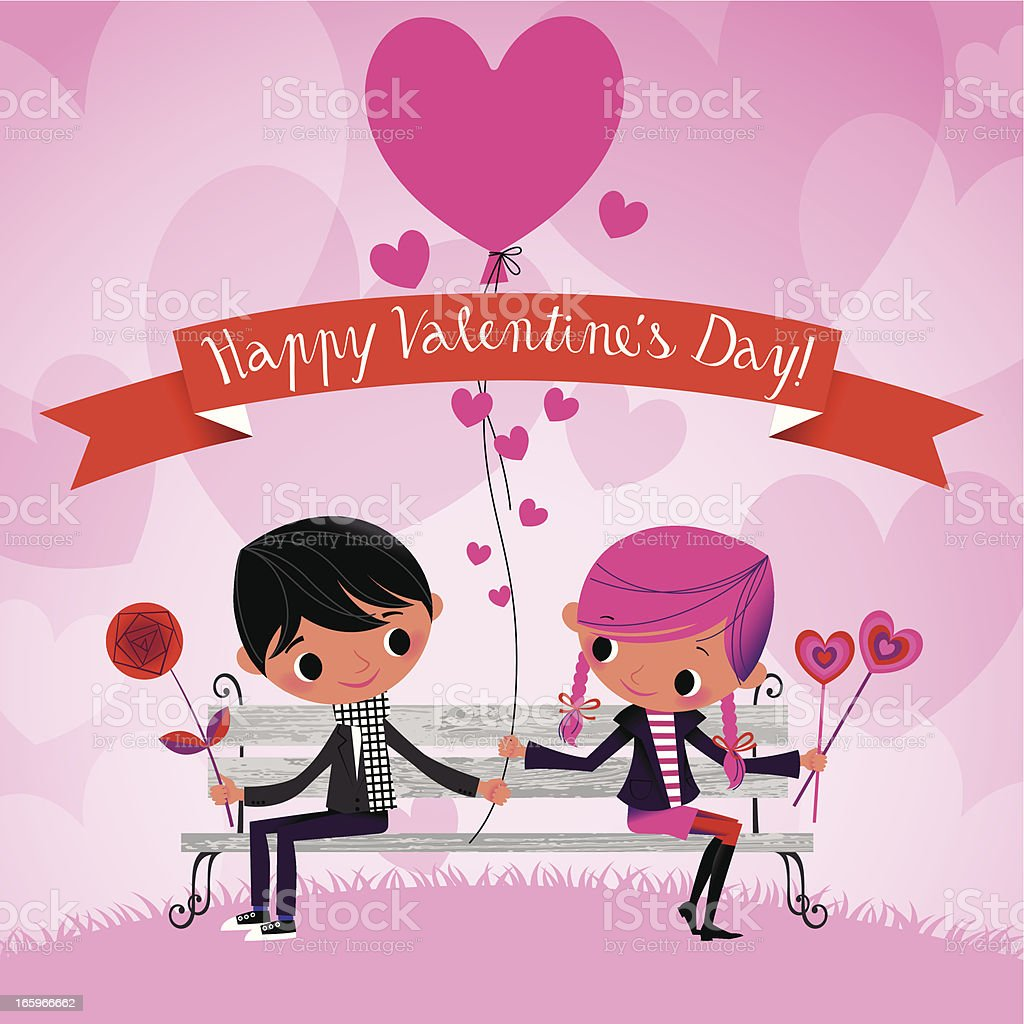 Happy Valentine's Day! vector art illustration