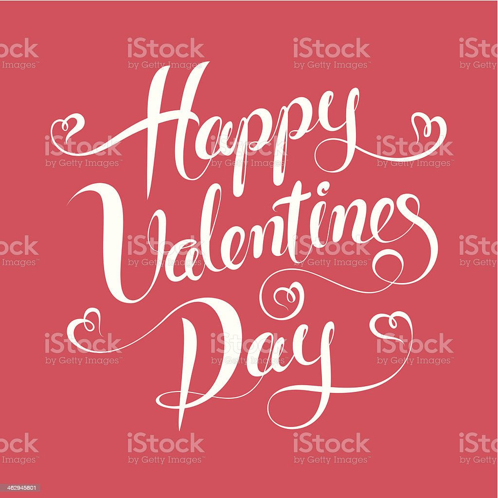 Happy Valentines Day vector art illustration