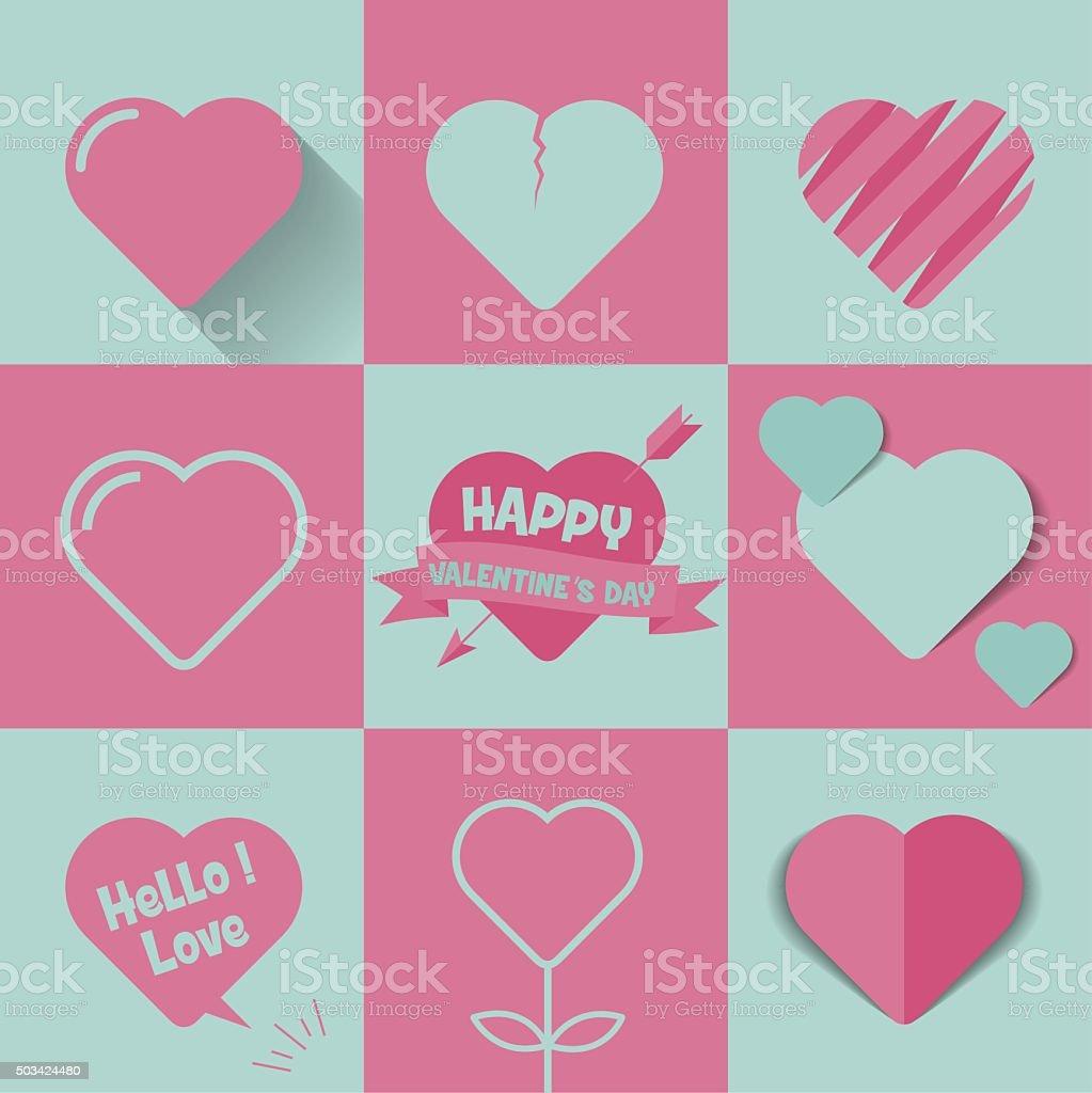 happy valentines day vector art illustration