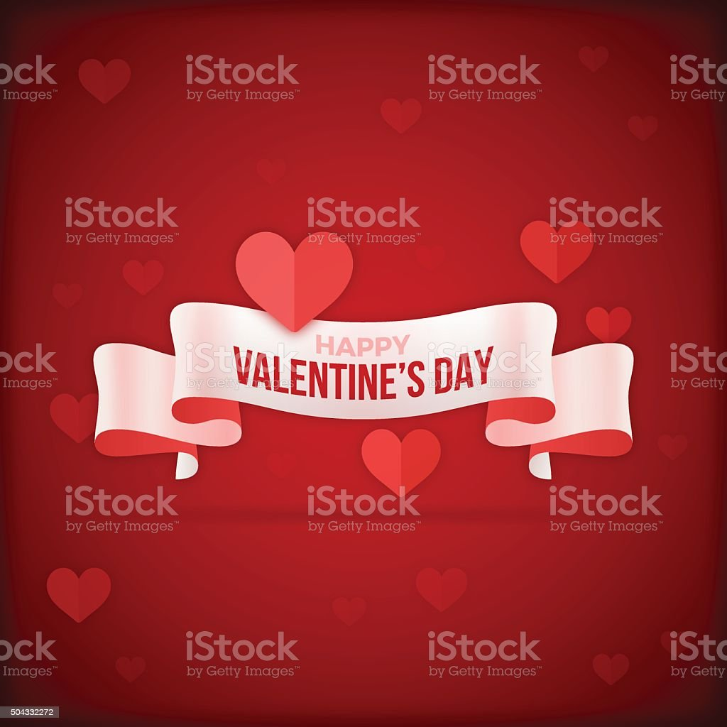 Happy Valentine's Day vector art illustration