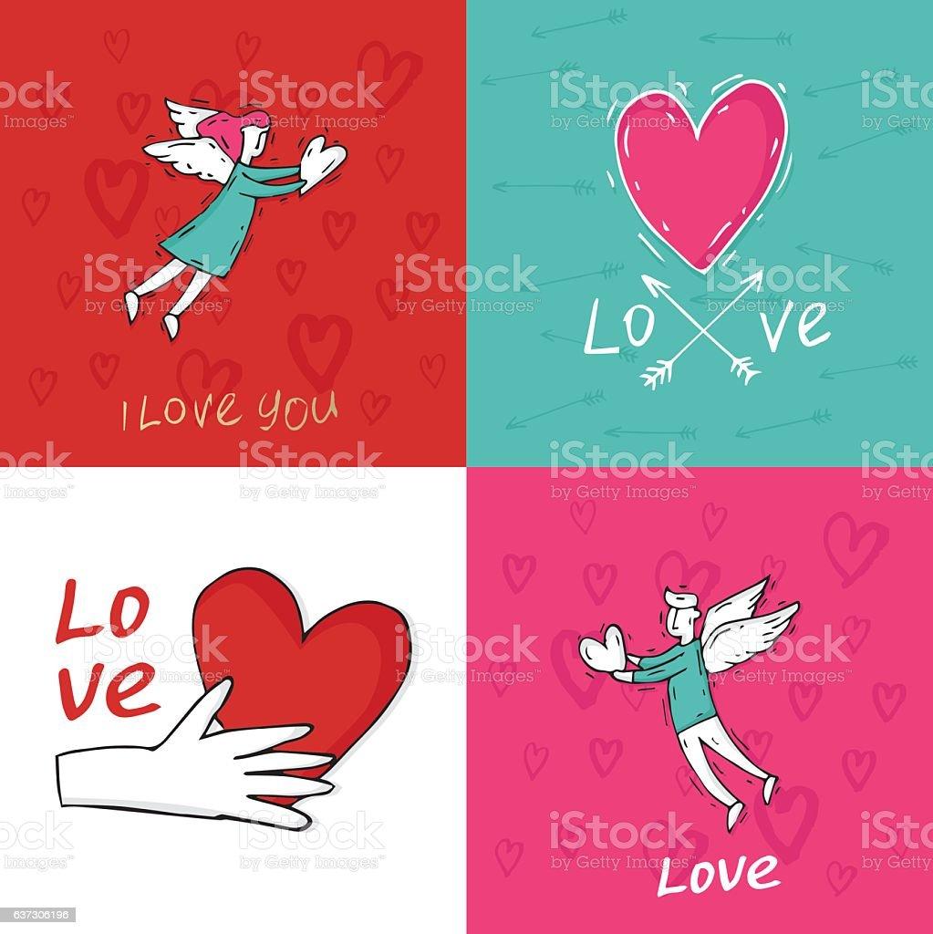 Happy Valentine's Day vector art illustration