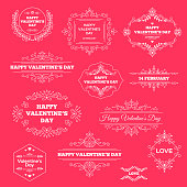 Happy Valentines Day Vintage Ornament Labels