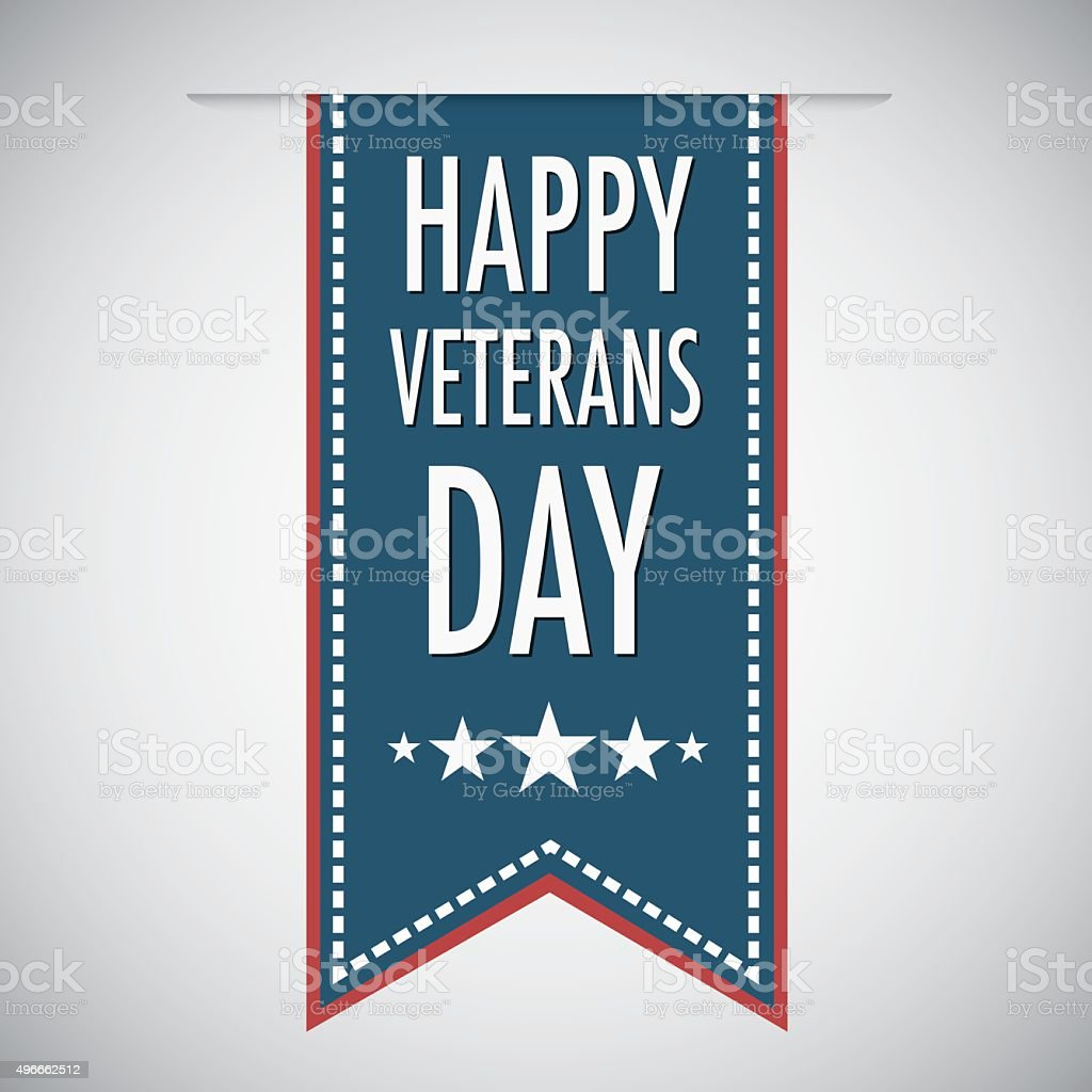 Happy veterans day quote for the Vet Day in USA royalty-free stock vector art