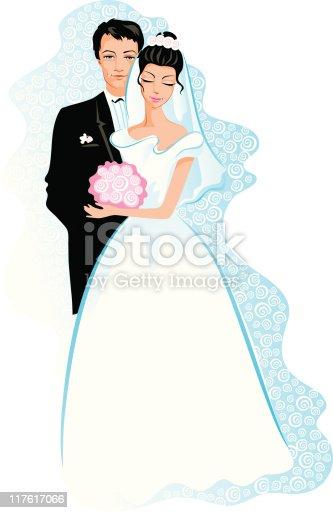 247Как нарисовать жениха с невестой карандашом поэтапно