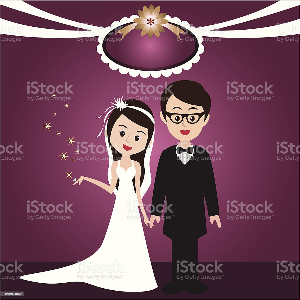 Happy wedding royalty-free stock vector art
