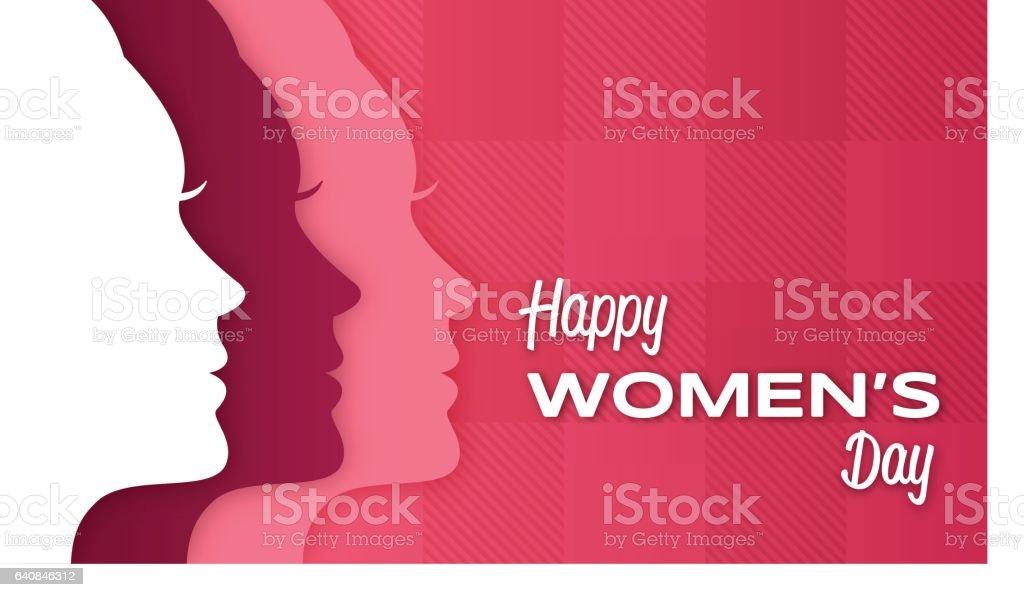 Happy Women's Day vector art illustration