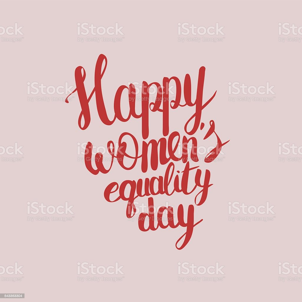 Happy Womens Equality Day letterrring vector art illustration